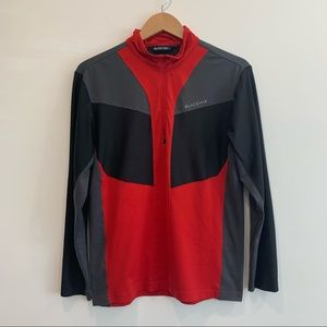 Blackyak 1/4 zip long sleeve base layer jacket red
